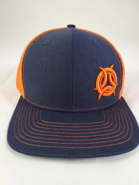 Outcast Trucker Navy/ Orange with 3D Outcast Logo