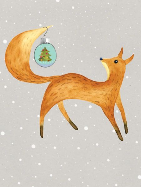 GC X Fox: Fox with Christmas Ball hanging from his Tail