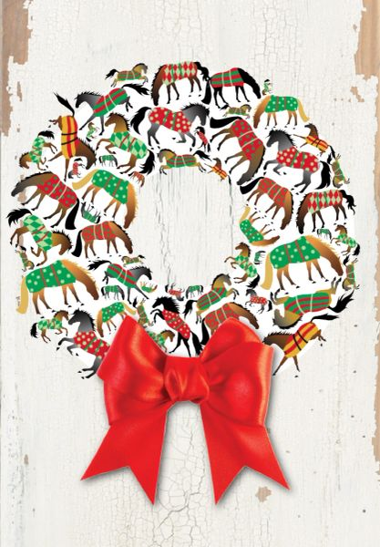 GC X 18: Wreath made of Blanketed Horses