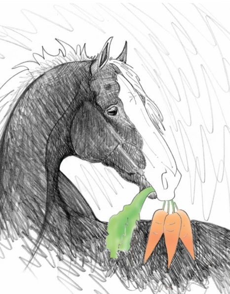 GC Blank Carrots: Horse with Carrot