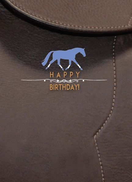 GC B Leather: Blue/purplish horse on leather background