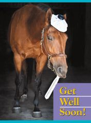 GC GW: Get Well Soon - Horse with Thermometer