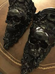 Sold Skull Sconce