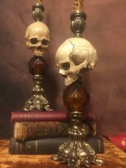 Sold Skull Candle Holders