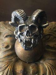 Horned Skull Ring