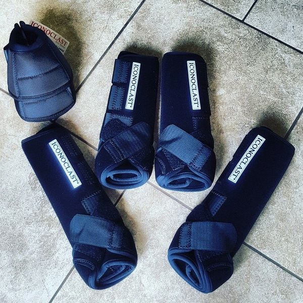 Black Iconoclast Orthopedic FULL SET Sport Boots