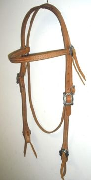 Hermann Oak Headstall with Jeremiah Watt Hardware