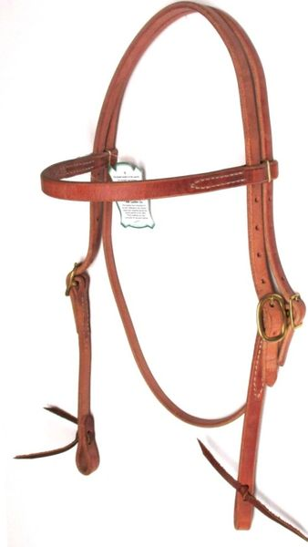 Hermann Oak Single Ply Headstall
