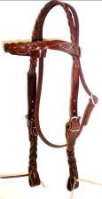 Five Plait Braided Latigo Headstall
