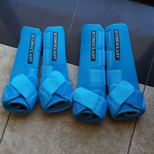 Lt. Blue Airbrushed Iconoclast Sport Boots
