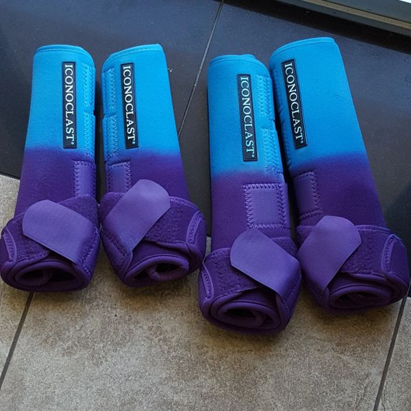 Light Blue and Purple Airbrushed Iconoclast Boots