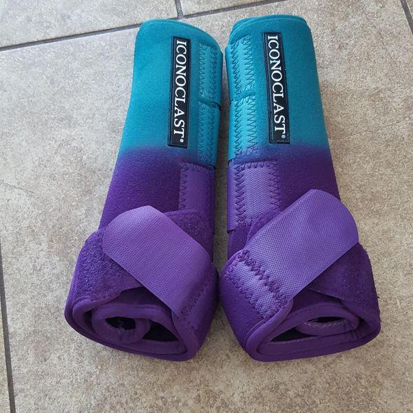 HIND Teal to Purple Custom Iconoclast Boots