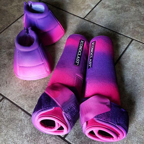 Rockin Poppin Pink and Purple Custom Iconoclast Boots