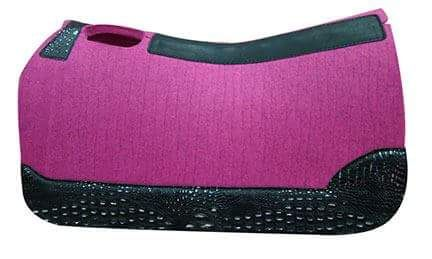 Pink Felt W/ Black Silver Croc
