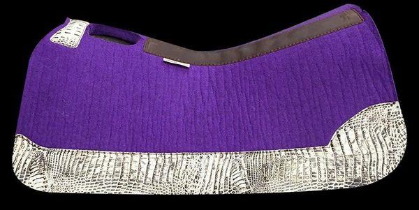 Purple Felt 32x30 Ivory Croc