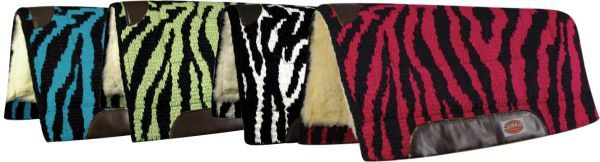 Zebra Print Saddle Pad