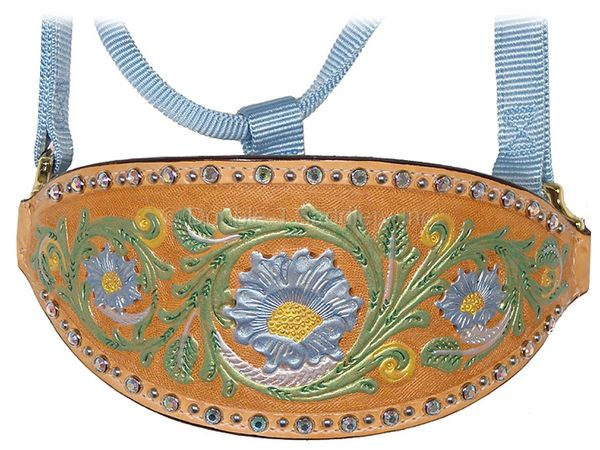 HAND-TOOLED AND PAINTED HALTER - HNH07