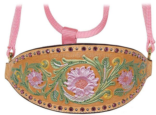 HAND-TOOLED AND PAINTED HALTER - HNH08