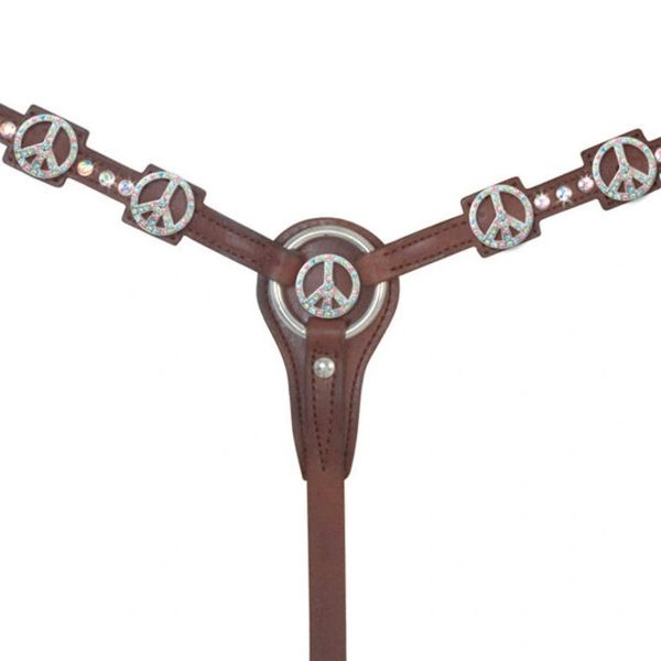 Alamo Peace Breast Collar, Chocolate