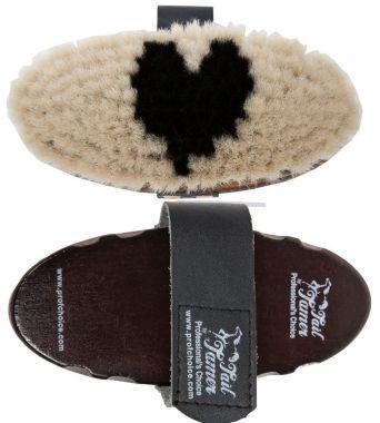 Professional's Choice Tail Tamer Medium Wooden Goat Hair Brush