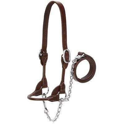 Dairy/Beef Rounded Show Halter, Brown, Extra Small
