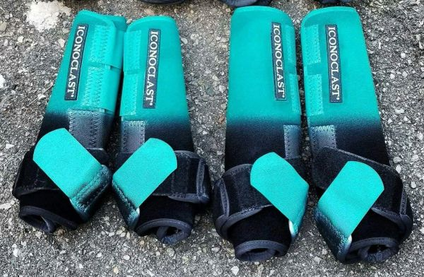Teal/black ombre with teal strap
