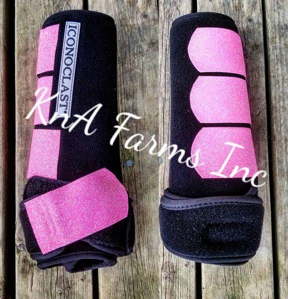 Black w/ pink glitter straps