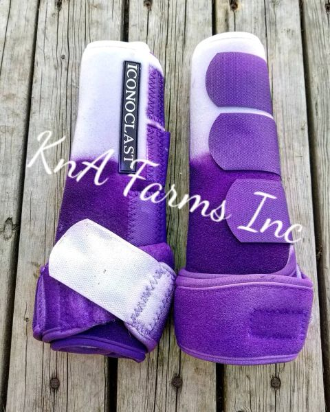 White to purple ombre w/ purple and white straps