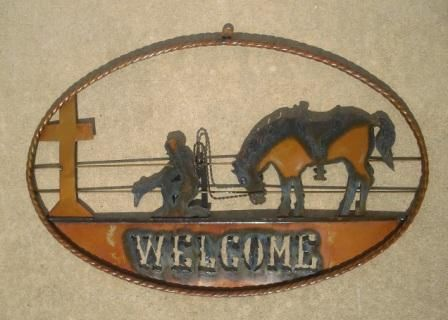 Metal Cutout Welcome Sign