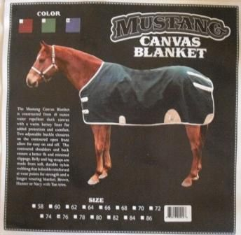 Mustang Canvas Blanket