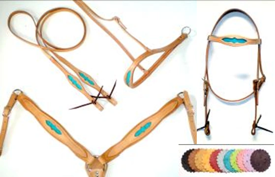 Ostrich Inlay Horse Tack Set