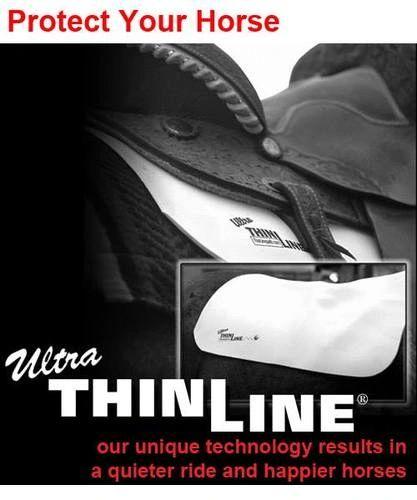 Basic Ultra ThinLine Western Shock Absorbing Saddle Pads