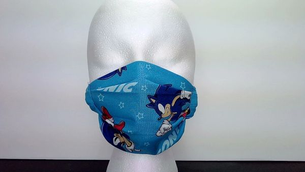 Sonic The Hedgehog Print Face Mask