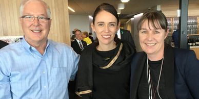 David Biggs, Prime Minister Jacinda Ardern, Helen Davidson of Engineering New Zealand