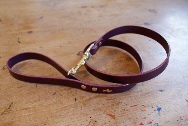 Fig luxury leather dog lead