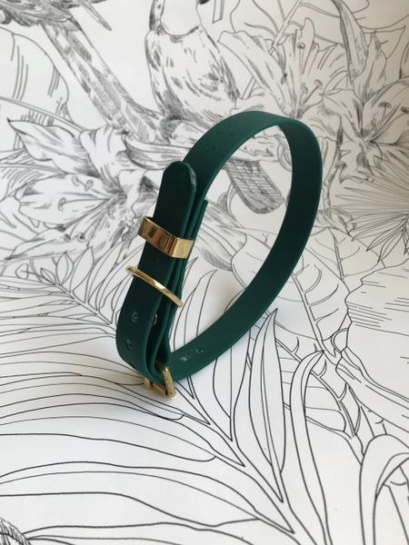 Green all weather dog collar