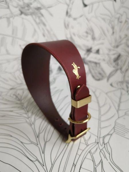 Fig luxury leather grey hound collar