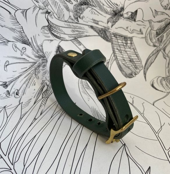 Forest mini luxury leather dog collar