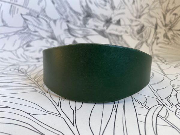 Forest luxury leather grey hound collar