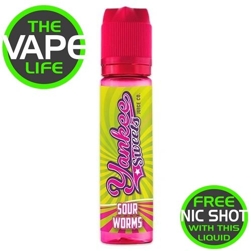 Yankee Sweets Sour Worms 50ml + Nic Shot