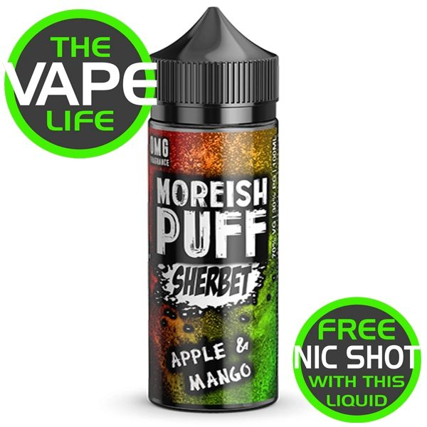 Moreish Puff Sherbet Apple & Mango 100ml + 2 Nic Shots