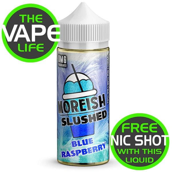 Moreish Slushed Blue Raspberry 100ml + 2 Nic Shot