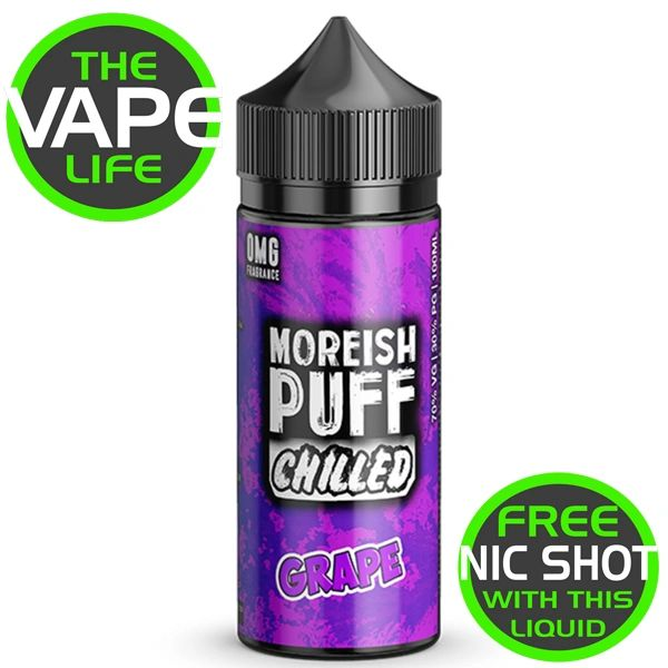 Moreish Puff Chilled Grape 100ml + 2 Nic Shots