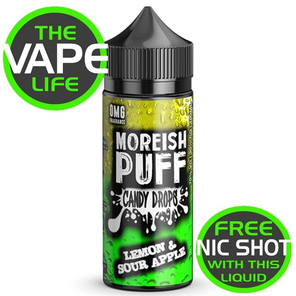Moreish Puff Candy Drops Lemon & Sour Apple 100ml + 2 Nic Shots
