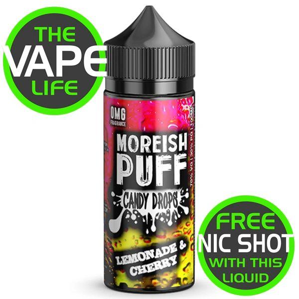 Moreish Puff Candy Drops Lemonade & Cherry 100ml + 2 Nic Shots