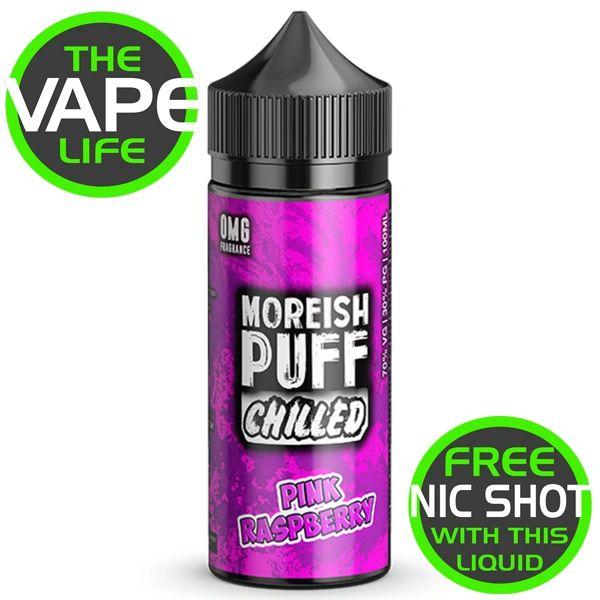 Moreish Puff Chilled Pink Raspberry 100ml + 2 Nic Shots