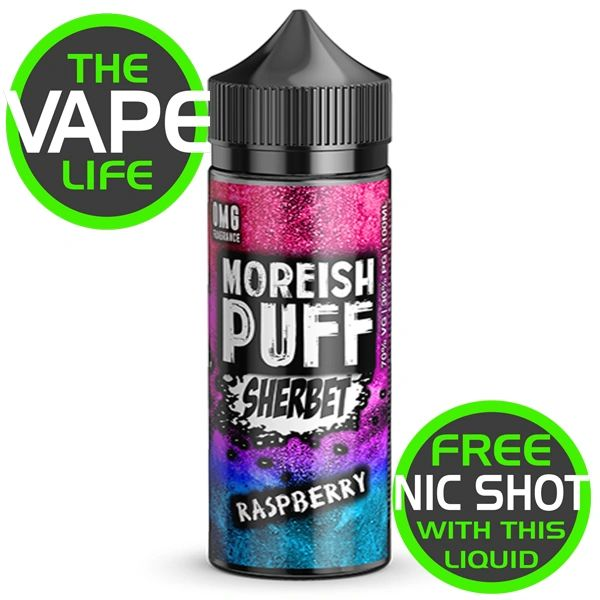 Moreish Puff Sherbet Raspberry 100ml + 2 Nic Shots