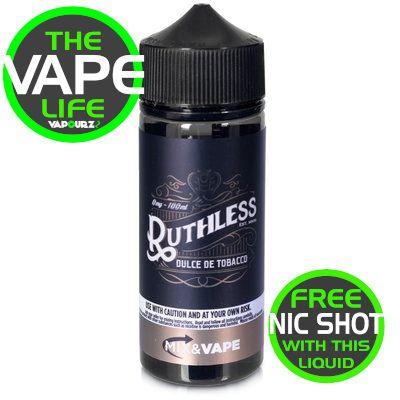 Ruthless Dulce de tobacco 100ML + 2 Nic shots