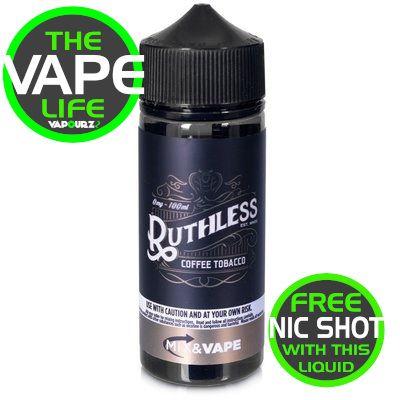 Ruthless Coffee Tobacco 100ML + 2 Nic shots