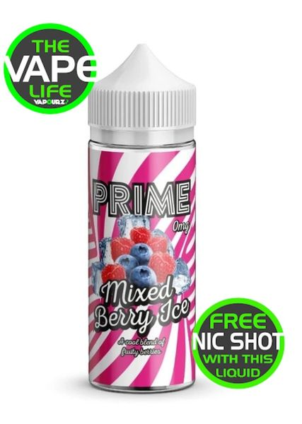 Prime Mixed Berry and Ice 100ml + 2 Nic Shots